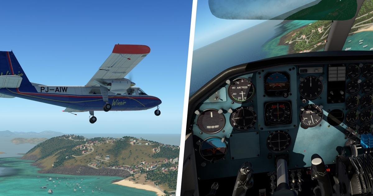 The exterior model and cockpit of the Nimbus BN-2 Islander