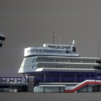 A screenshot of the tower and main terminal of Berlin Tegel Airport, currently being built by Gaya Simulations.