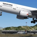 Der Just Flight A300 in der Qantas-Bemalung