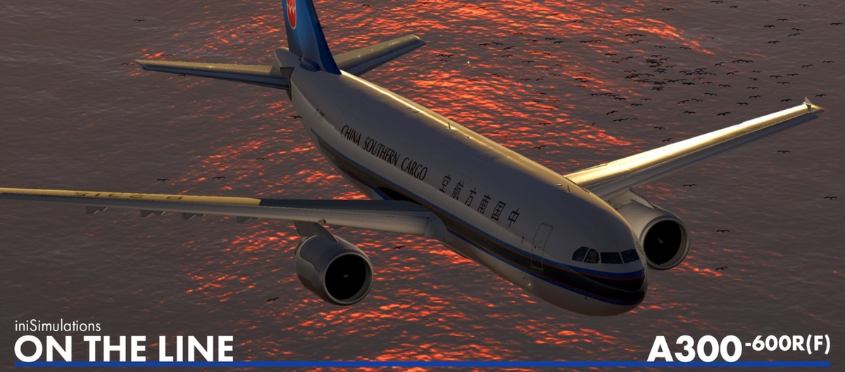 The iniBuilds A300 for X-Plane 11 in China Southern Cargo colors