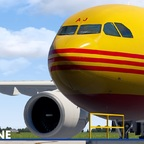 The iniBuilds A300 for XP11 with the DHL Livery
