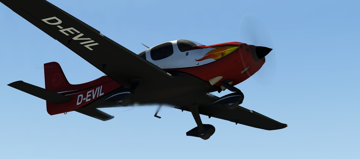 Our flat article image of the HoldMyBeer Cirrus SR22 for X-Plane 11