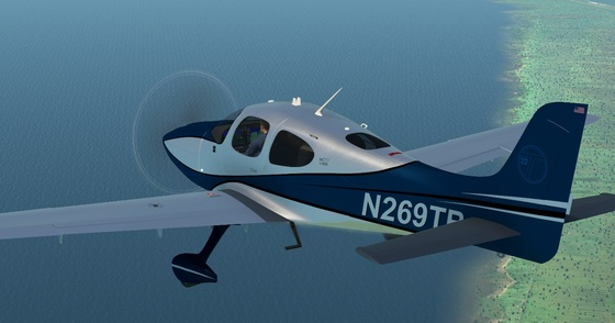 HoldMyBeer Cirrus SR22 over the german coast of the North Sea