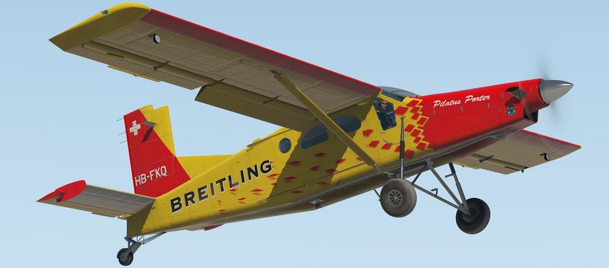 Die Thranda Design Pilatus PC-6 Porter in der Breitling-Bemalung