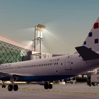 Aerosoft Zagreb Professional for Prepar3D v4: An Croatia Airlines A320 in front of the main terminal
