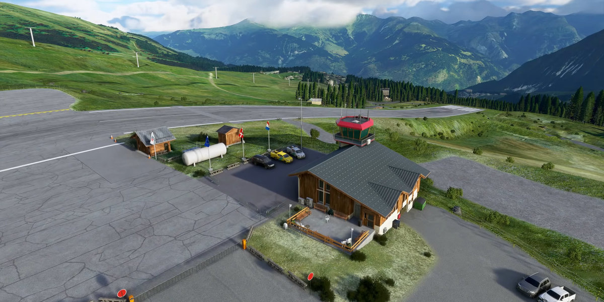 In Courchevel, France, FS2020 will allow you to try out the new feature of landing on sloping plains