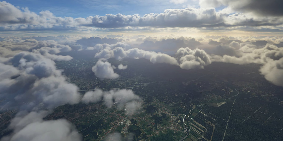 The atmosphere and clouds in the upcoming Microsoft Flight Simulator 2020