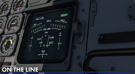 The close-up from the cockpit possibly of an upcoming A300 for X-Plane 11 by iniBuilds